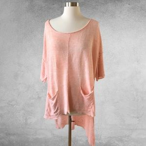 FREE PEOPLE Low Bright High Low Step Hem Sweater M